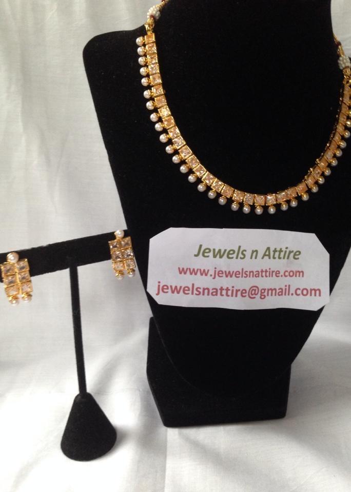 White square stone Necklace