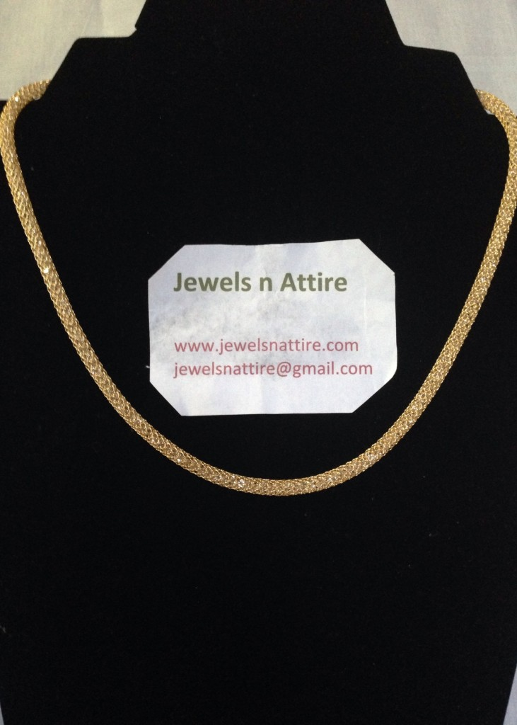 Gold stone filled  chain