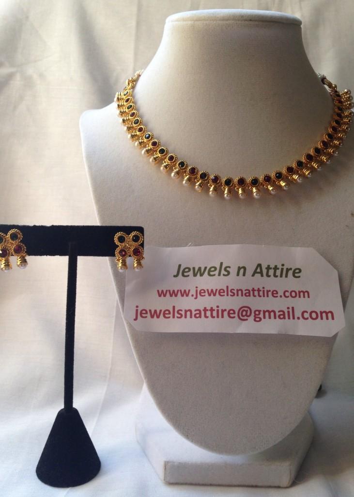 Tri color Necklace set