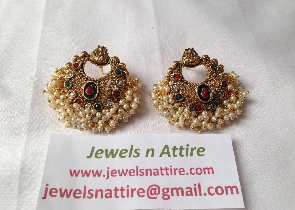 Chand Lakshmi Earring Tri Color