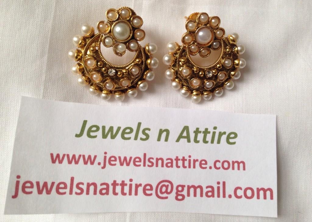 Pearl Chand Earring