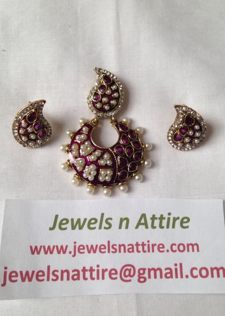 Purple pendant set