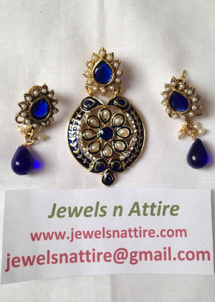 Royal Blue Pendant Set